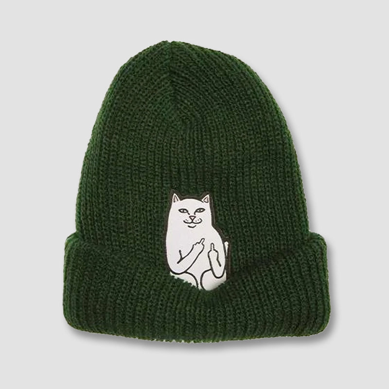 Ripndip Lord Nermal Ribbed Beanie Hunter Green - Unisex