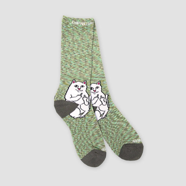 Ripndip Lord Nermal Socks Grey Speckle - Accessories