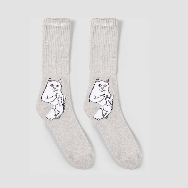 Ripndip Lord Nermal Socks Heather Grey- Unisex - Accessories