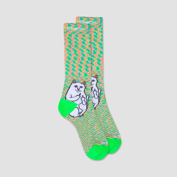 Ripndip Lord Nermal Socks Neon Speckle - Accessories