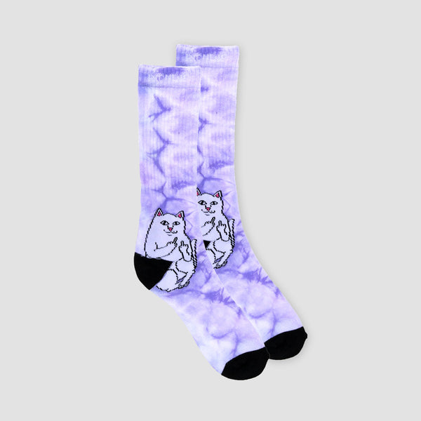Ripndip Lord Nermal Socks Purple Tie Dye