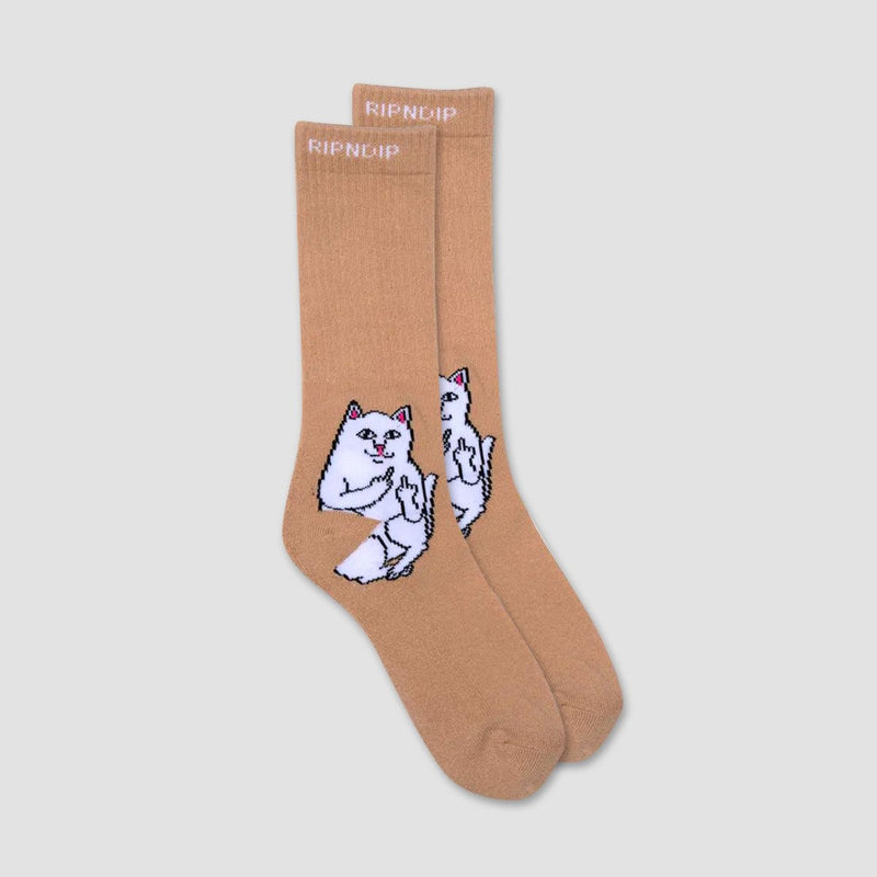 Ripndip Lord Nermal Socks Tan- Unisex - Accessories