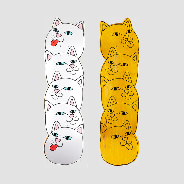 Ripndip Many Faces Cruiser Deck White - 8.56""