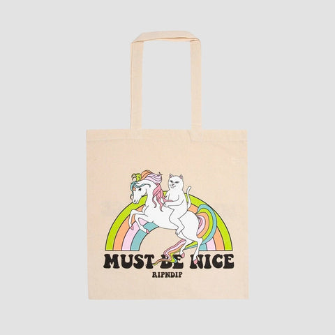 Ripndip My Little Nerm Tote Bag Natural - Unisex