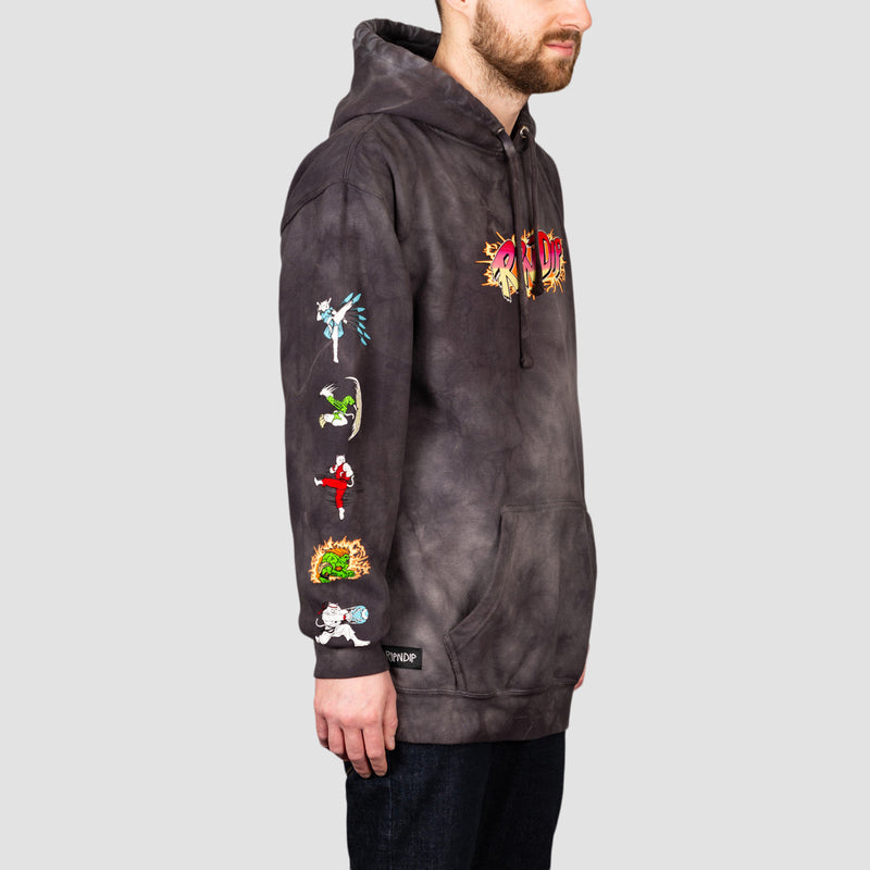 Ripndip Nerm Fighter Pullover Hood Black Lightning Wash