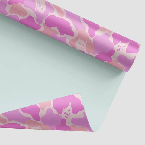 Ripndip Nermal Camo Wrapping Paper Pink Camo
