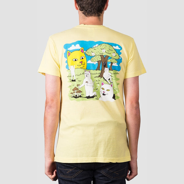 Ripndip Park Day Tee Light Yellow - Clothing
