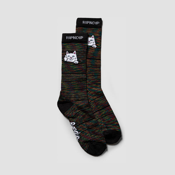 Ripndip Peeking Nermal Socks Black Space Dye
