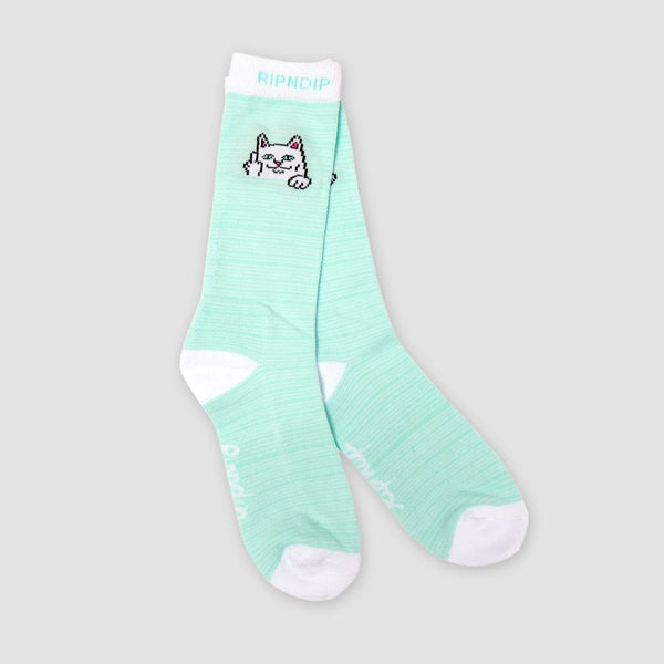 Ripndip Peeking Nermal Socks Mint - Accessories