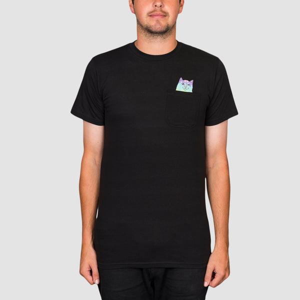 Ripndip Rainbow Road Pocket Tee Black