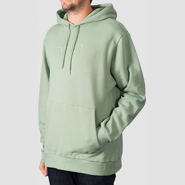 Ripndip Rubber Logo Pullover Hood Sage - Clothing