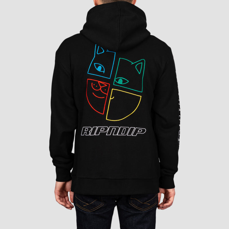 Ripndip Square Up Pullover Hood Black