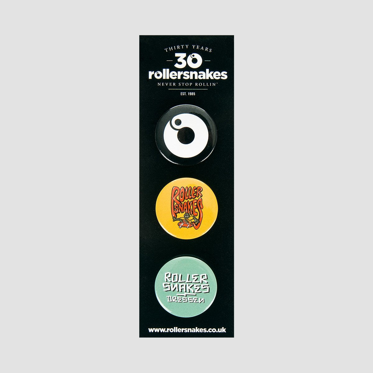 Rollersnakes 30th Anniversary Pin x3 - Accessories
