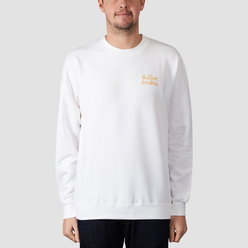 Rollersnakes Chunker Crew Sweat White - Clothing