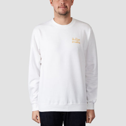Rollersnakes Chunker Crew Sweat White