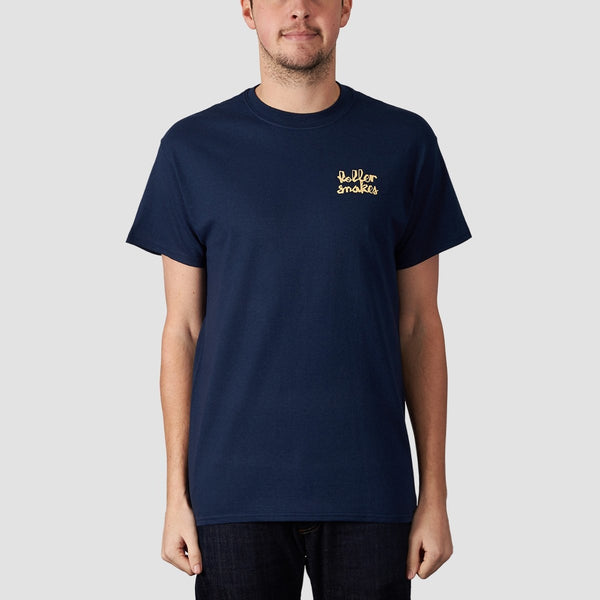 Rollersnakes Chunker Tee Navy - Clothing