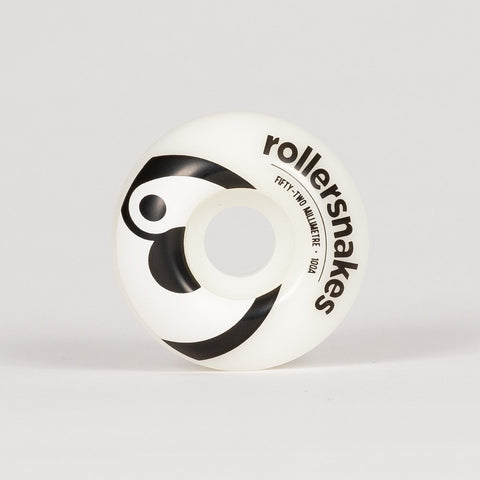 Rollersnakes Hooper Wheels White/Black 52mm - Skateboard