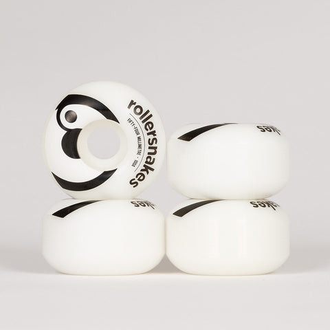 Rollersnakes Hooper Wheels White/Black 54mm