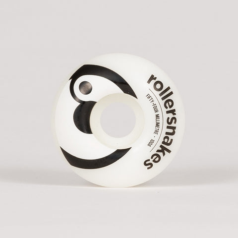 Rollersnakes Hooper Wheels White/Black 54mm - Skateboard