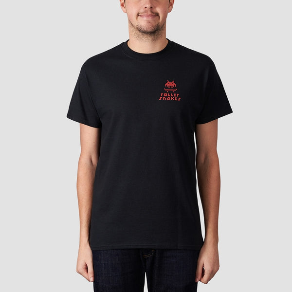 Rollersnakes Invader Tee Black - Clothing