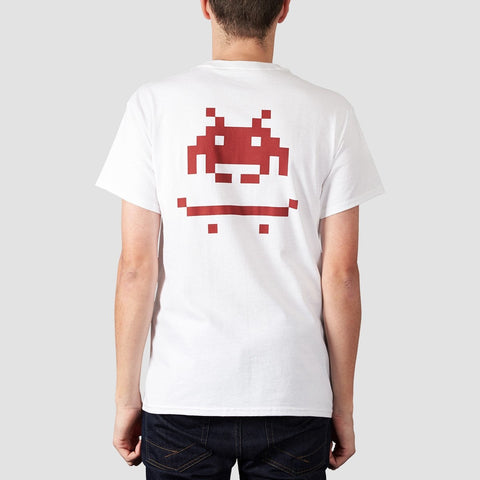 Rollersnakes Invader Tee White - Clothing