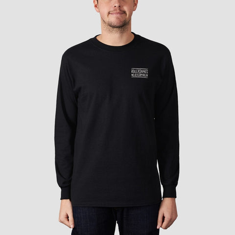 Rollersnakes Snake Eyes Long Sleeve Tee Black