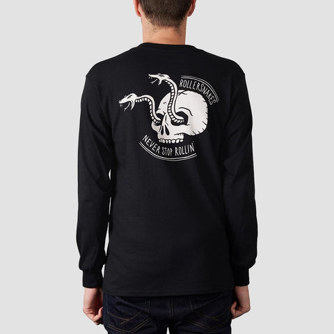 Rollersnakes Snake Eyes Long Sleeve Tee Black - Clothing