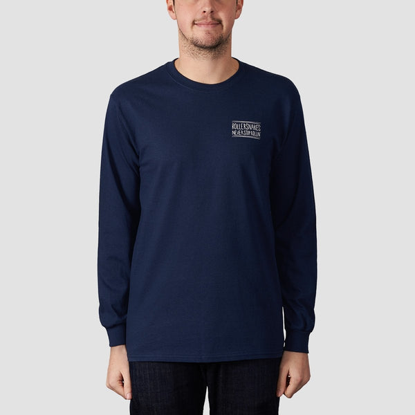 Rollersnakes Snake Eyes Long Sleeve Tee Navy - Clothing