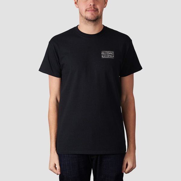 Rollersnakes Snake Eyes Tee Black - Clothing