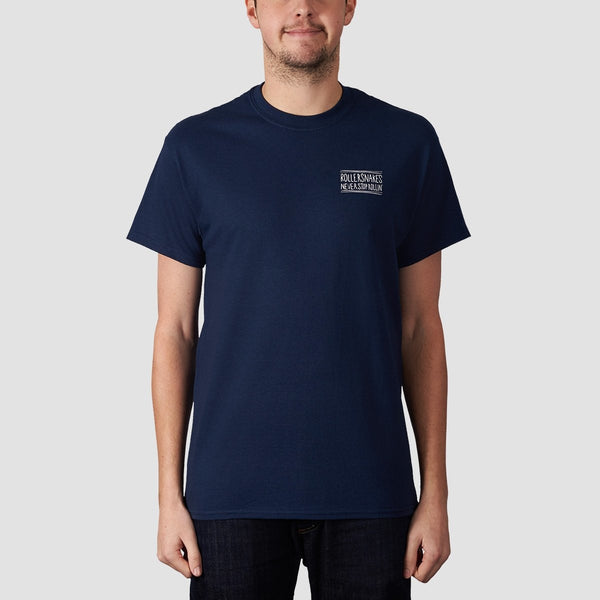 Rollersnakes Snake Eyes Tee Navy - Clothing