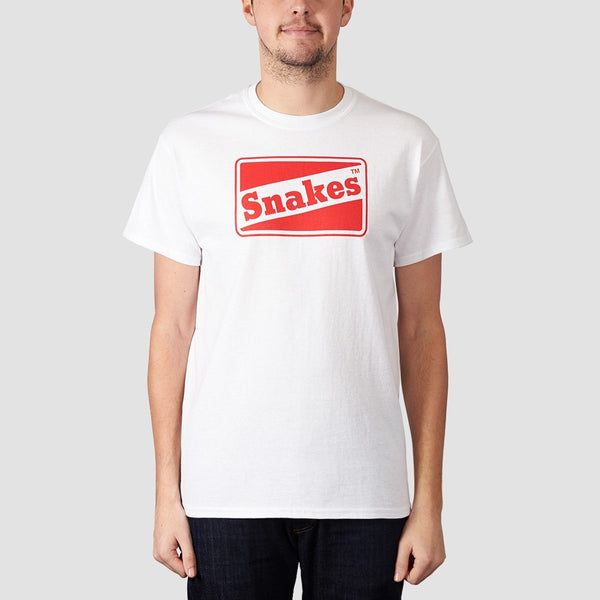 Rollersnakes Snakes Tee White - Clothing
