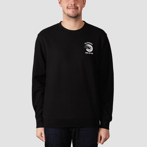 Rollersnakes Spitting Snake Crew Sweat Black