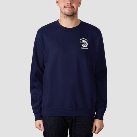 Rollersnakes Spitting Snake Crew Sweat Navy