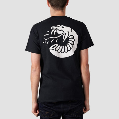 Rollersnakes Spitting Snake Tee Black - Clothing