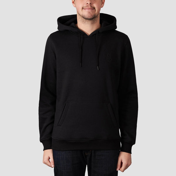 Rollersnakes Tread Pullover Hood Black - Clothing