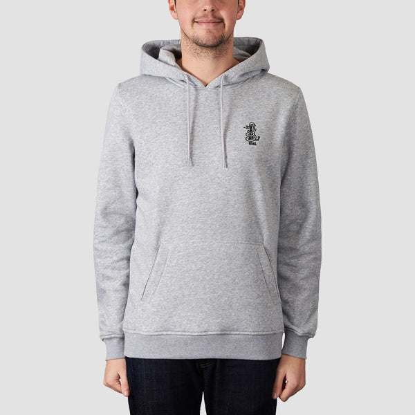 Rollersnakes Tread Pullover Hood Heather Grey - Clothing