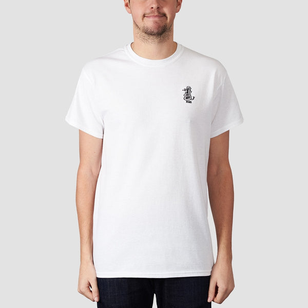 Rollersnakes Tread Tee White - Clothing