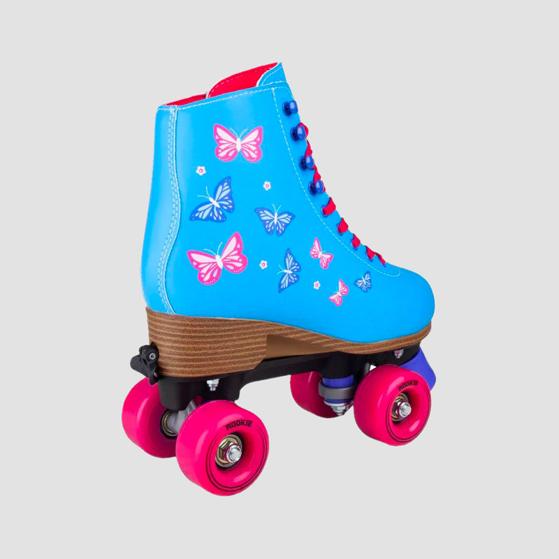 Rookie Blossom Adjustable Quad Skates Blue - Kids