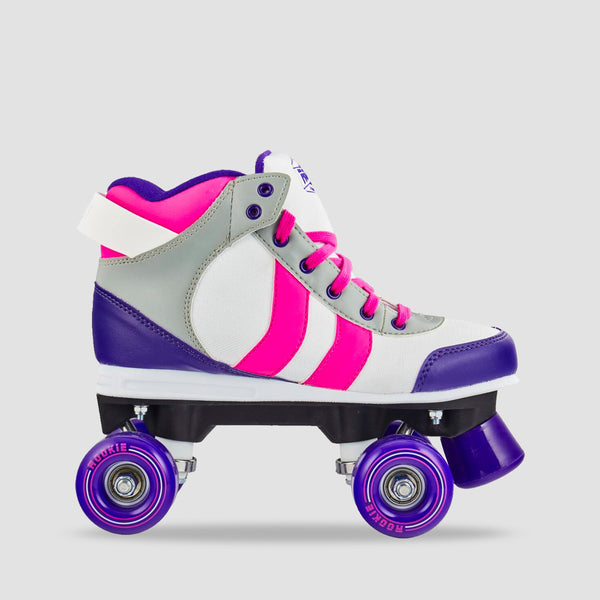 Rookie Deluxe Quad Skates Pink/Grey/Purple - Unisex S