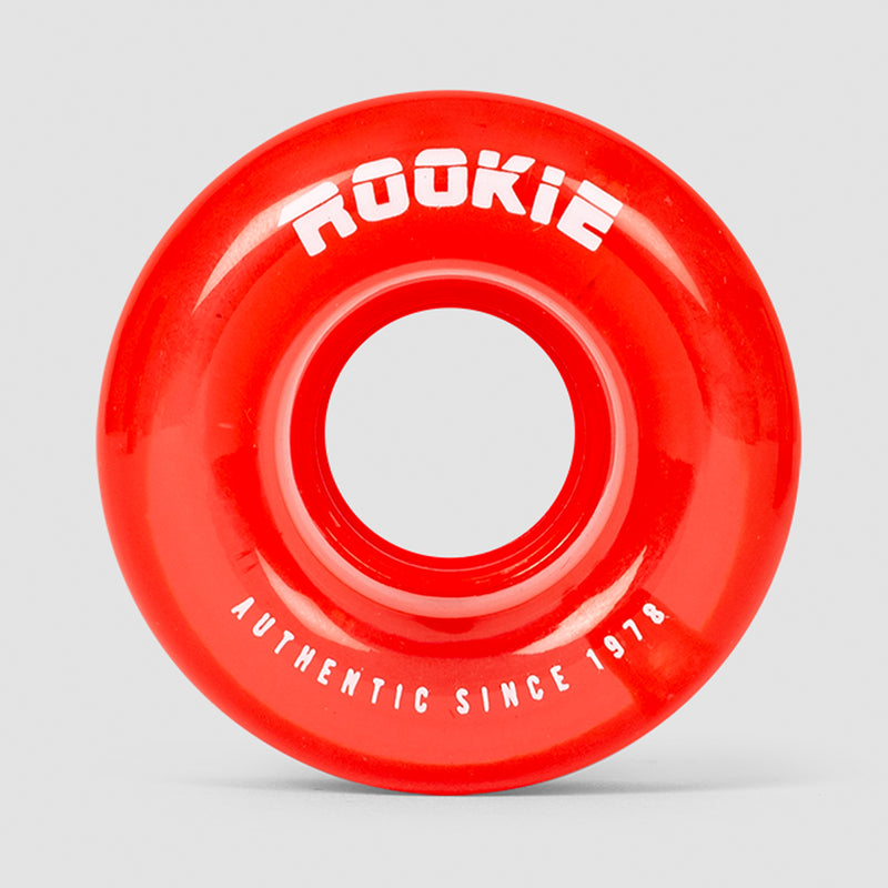 Rookie Disco Quad Wheels x4 Clear Red 58mm