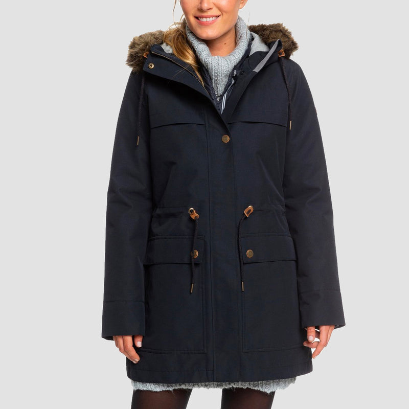 Roxy Amy 3 in 1 Parka True Black - Womens