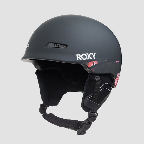 Roxy Angie Snow Helmet True Black Blooming Party - Womens