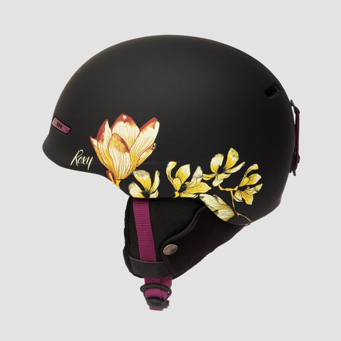 Roxy Angie SRT Snow Helmet True Black Magnolia - Womens - Snowboard