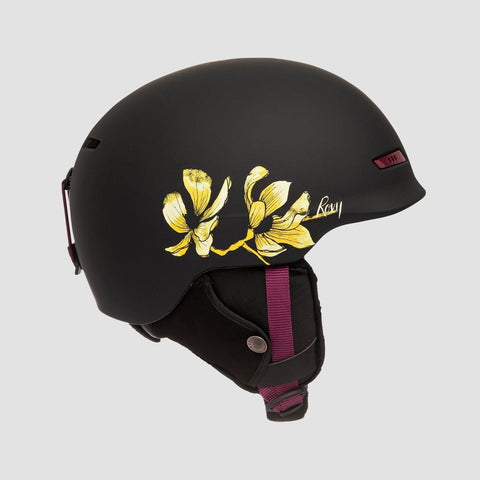 Roxy Angie SRT Snow Helmet True Black Magnolia - Womens