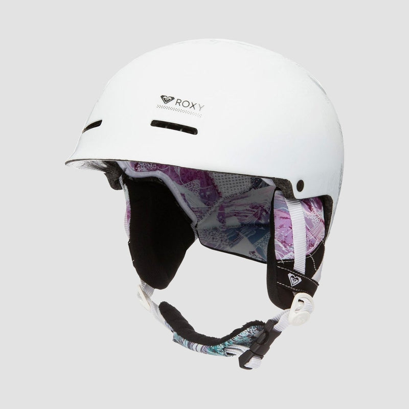 Roxy Avery Snow Helmet Bright White Mysterious View - Womens - Snowboard