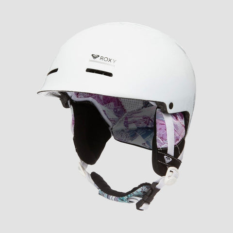 Roxy Avery Snow Helmet Bright White Mysterious View - Womens