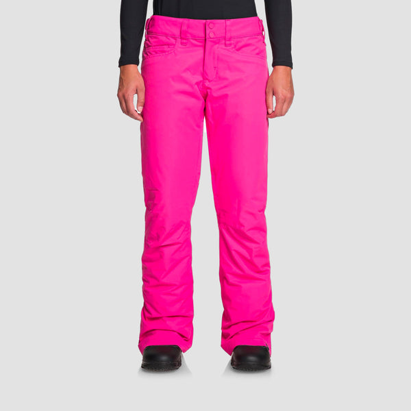 Roxy Backyard Snow Pants Beetroot Pink - Womens