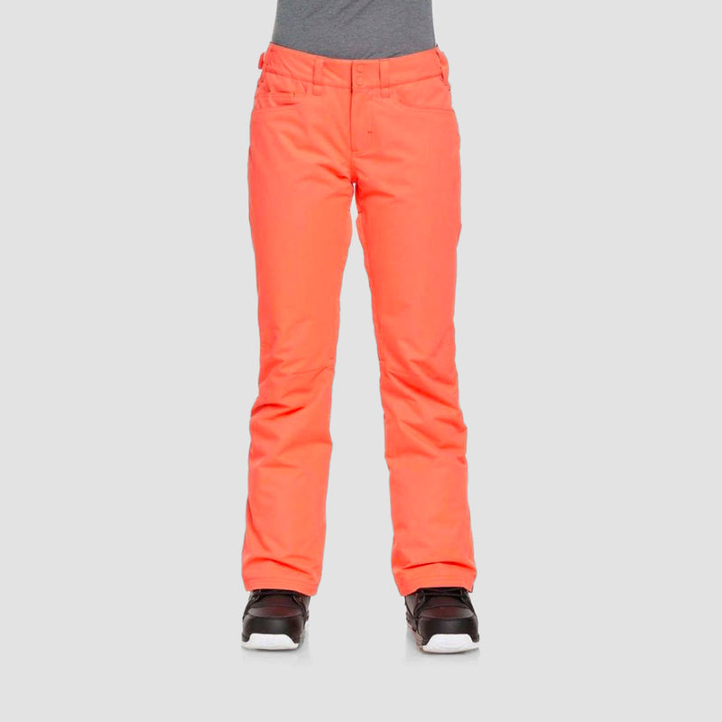 Roxy Backyard Snow Pants Living Coral - Womens