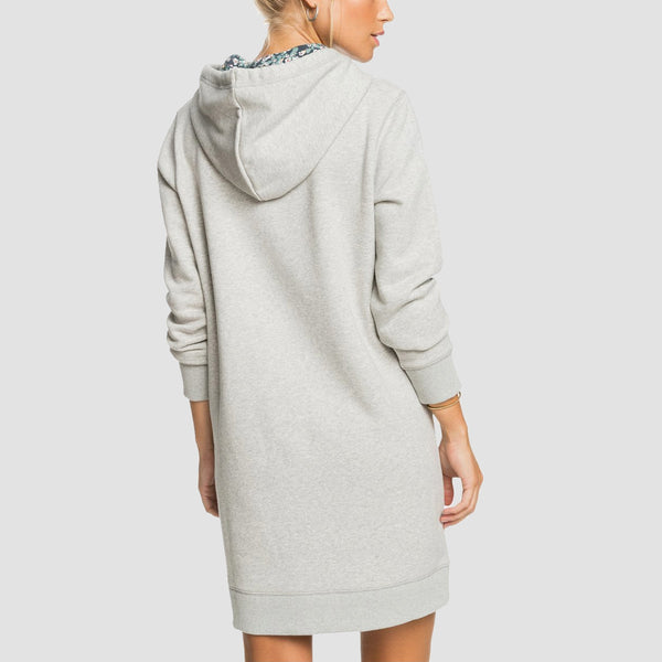 Roxy Be Rider Hooded Dress Heritage Heather - Womens