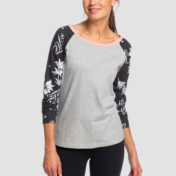 Roxy Before I Go Longsleeve Tee Heritage Heather - Womens